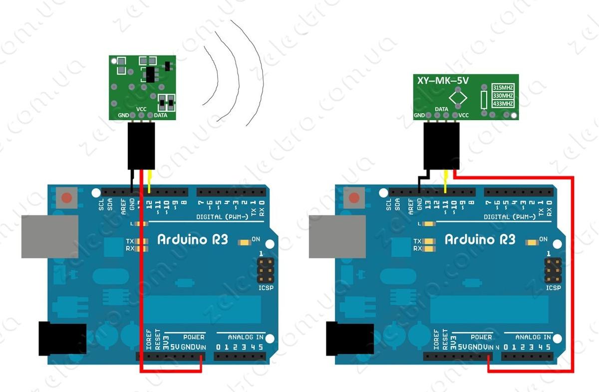 Modulo Rf Transmisor Y Receptor 433mhz Pic Atmel Arduino