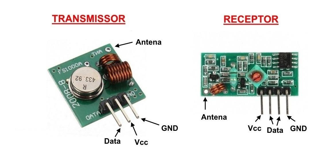 Modulo Rf Transmisor Y Receptor 433mhz Tx Rx Arduino