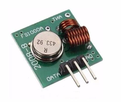 módulo rf transmissor receptor 433mhz am arduino rx tx