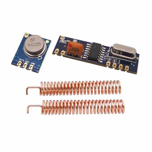 módulo rf transmissor receptor 433mhz (até 100 metros)