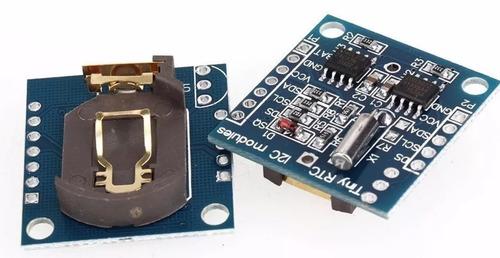 módulo rtc relógio ds1307 + at24c32 arduino i2c
