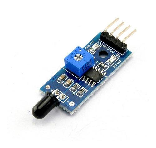 módulo sensor de chama / fogo para arduino pic raspberry
