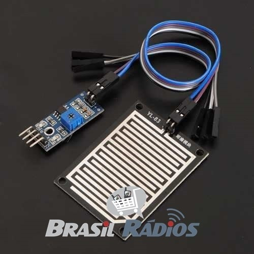 módulo sensor de chuva / água altamente sensível p/ arduino