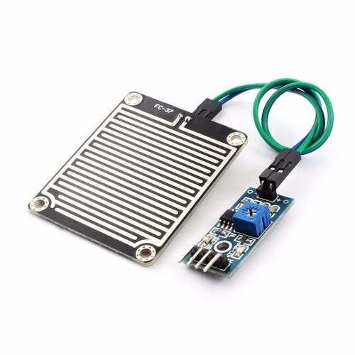 módulo sensor de chuva e pingos d' água arduino