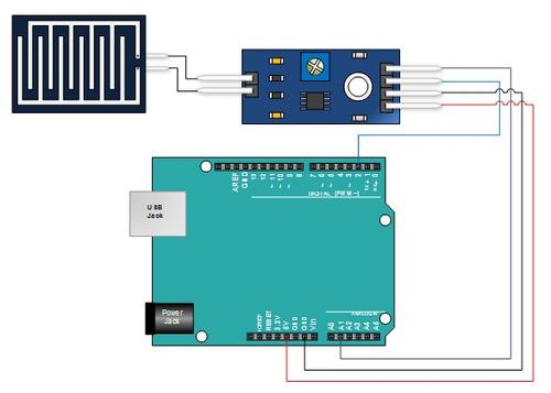 módulo sensor de chuva, neve - arduino, pic, automação