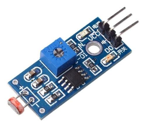 modulo sensor de luz fotoresistor con ldr arduino