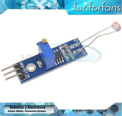 modulo sensor de luz ldr arduino raspberry pic