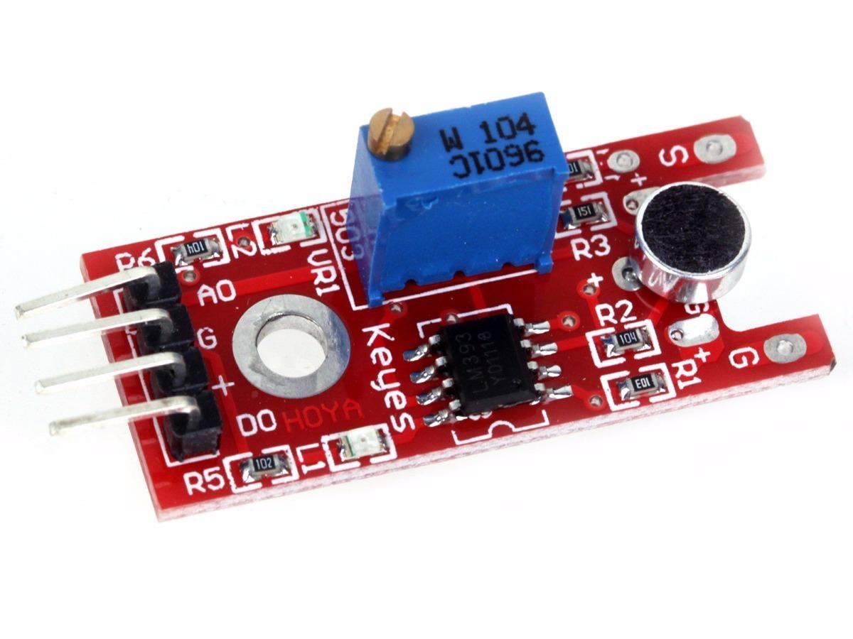 Módulo Sensor De Som Microfone Arduino Detector Ky 038