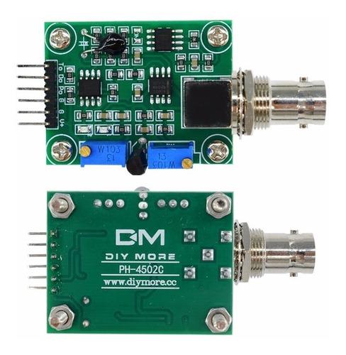 módulo sensor + ph eletrodo sonda bnc arduino/phmetro