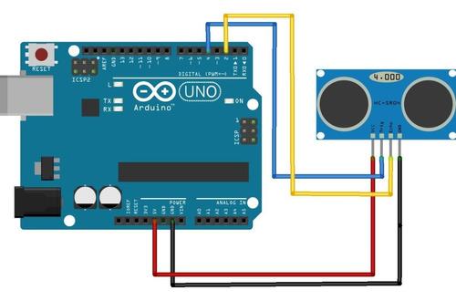 módulo sensor ultrassônico distância hc-sr04 - arduino