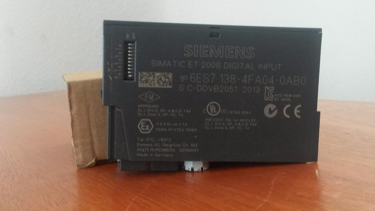 Siemens Simatic s7 6es7138-4fa04-0ab0//6es7 138-4fa04-0ab0 módulo de electrónica