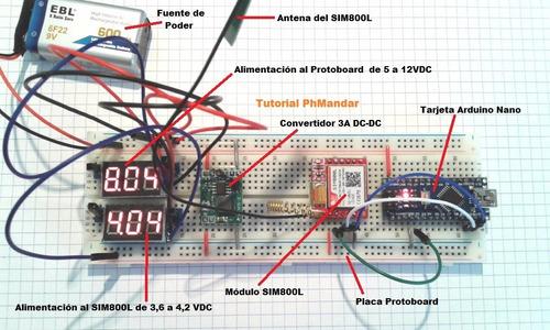 módulo sim800l gsm gprs +tutorial, compatible arduino pic ..