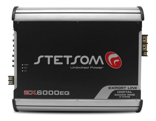 módulo stetsom 6000 rms ex-6000eq mono digital 1 e 2 ohm