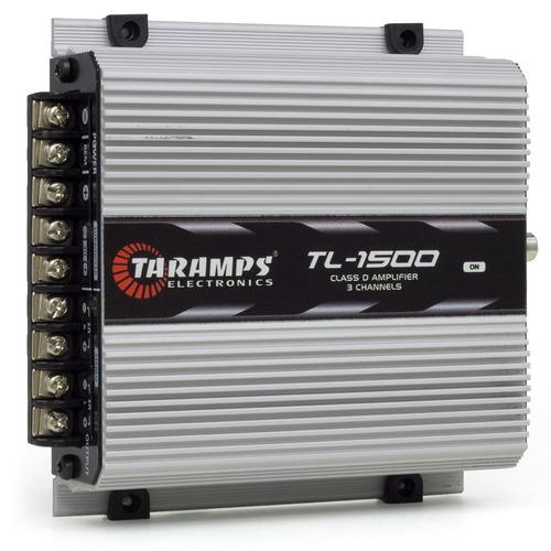 modulo taramps 390wrms tl1500 3 c mono estereo + cabo rca