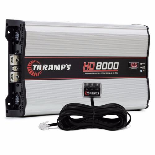 modulo taramps hd8000 8000 w rms amplificador + monitor clip
