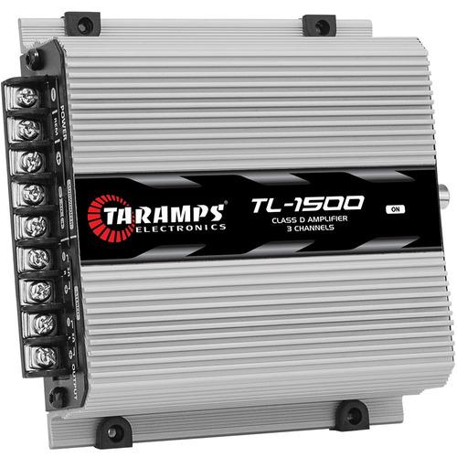 modulo taramps tl 1500 amplificador 2 ohms 390w 3 canais som