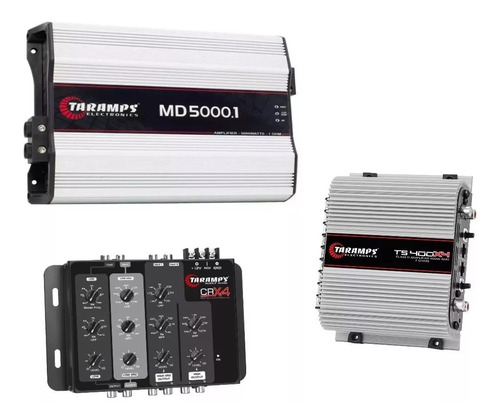 modulo taramps ts400x4 400w rms + md 5000 w + crossover crx4