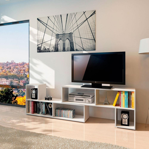 modulo tetris ideal tv color blanco