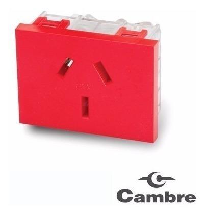 modulo toma 10a normalizado 7604 cambre rojo tension estabil