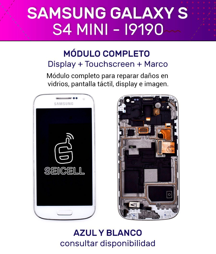 a87224254b1 modulo touch pantalla tactil display samsung galaxy s4 mini. Cargando zoom.