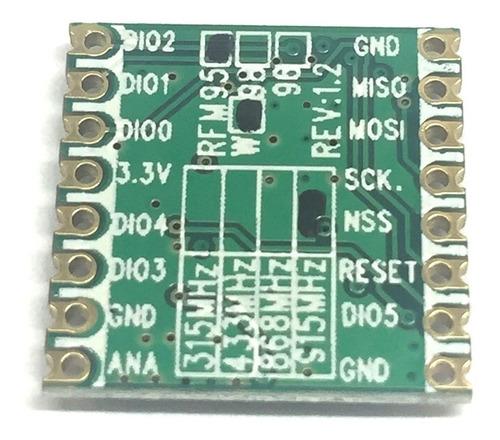 módulo transceptor lora rfm95 rfm95w 915mhz longo alcance