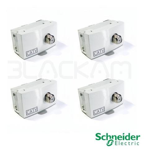 módulo tv catv schneider salida cable/modem x 4 unid