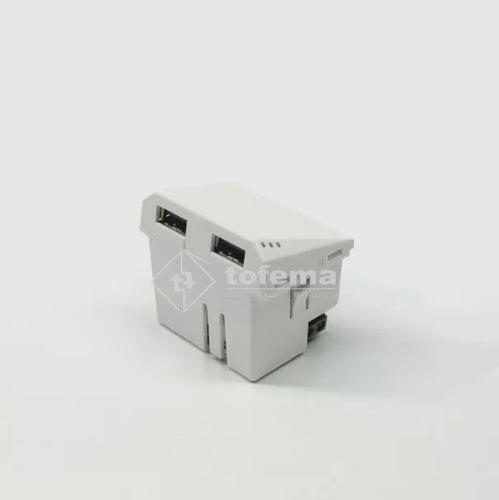 modulo usb doble 6960 3,1a blanco - cambre - tofema