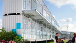 modulos full 20 pies showroom planta libre