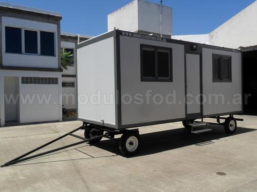 modulos habitables casilla rural trailer - rio negro