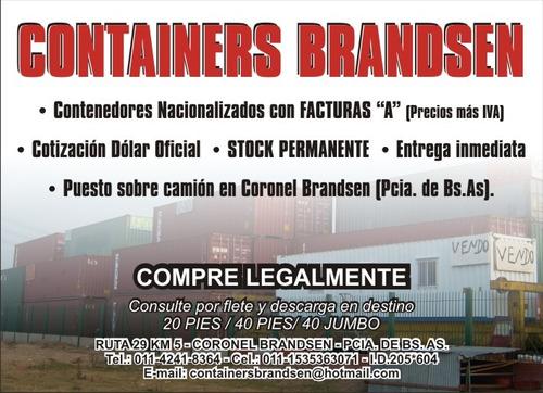 módulos habitables contenedores / containers marítimos 40 hc