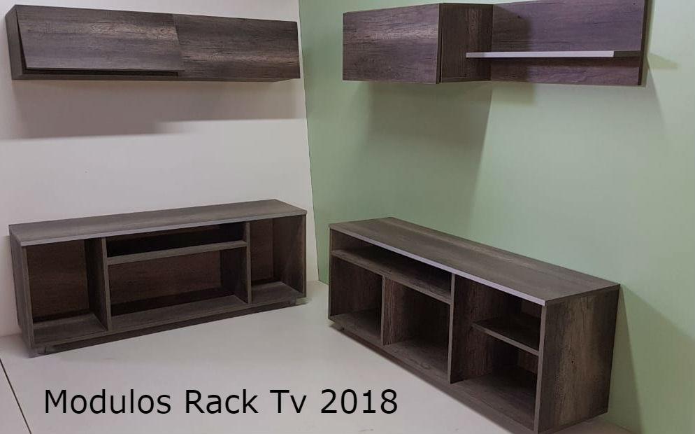 Modulos Modernos, Living Comedor Rack Tv En Melamina. - $ 5.900,00 ...