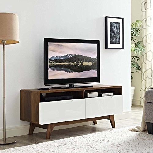 modway origin midcentury moderno 47 pulgadas de tv stand en