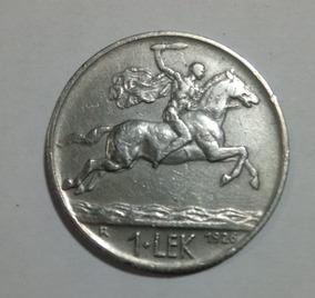 Moeda 1 Lek Shqipni Albânia 1926 Nickel * 253
