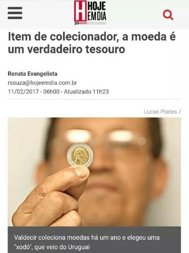moeda 10 pesos uruguaio *2000* canadá josé artigas fc