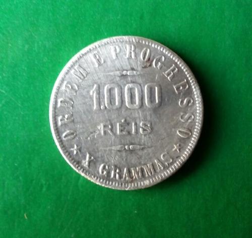 moeda 1000 reis prata-republica dos estados unidos do brasi