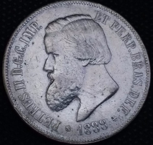 moeda  2 000 réis império 1888 mbc+ --- 001