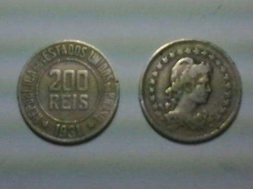 moeda  200 réis   - 1931 - soberba