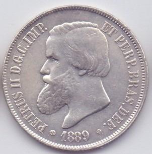 moeda 2000 réis 1889 prata do império lote4
