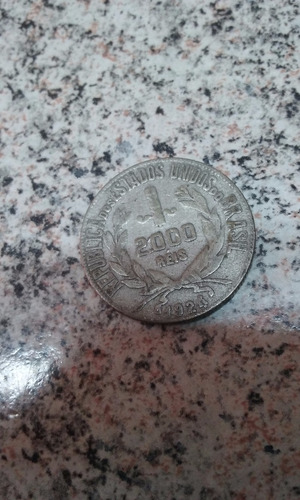 moeda 2000 réis 1924 e moeda 500 réis 1889