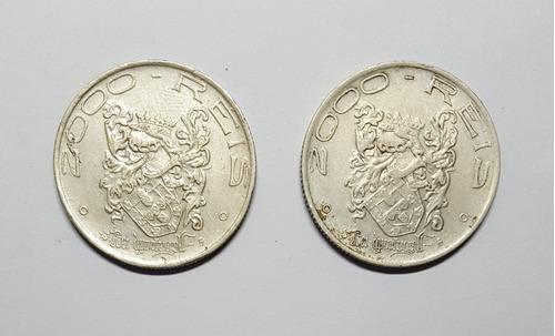 moeda 2000 réis 1932 - 4º centenário colonização brasil