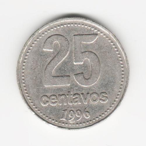 moeda 25 centavos 1996 argentina