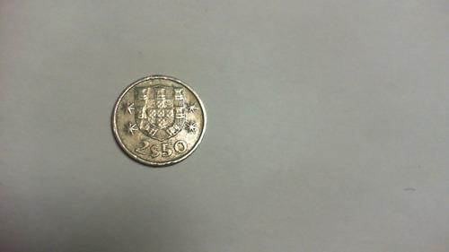 moeda 2$50 portuguesa 1983