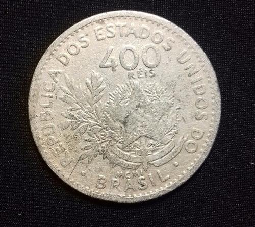 moeda 400 réis - 1901 - data em algarísmos romanos