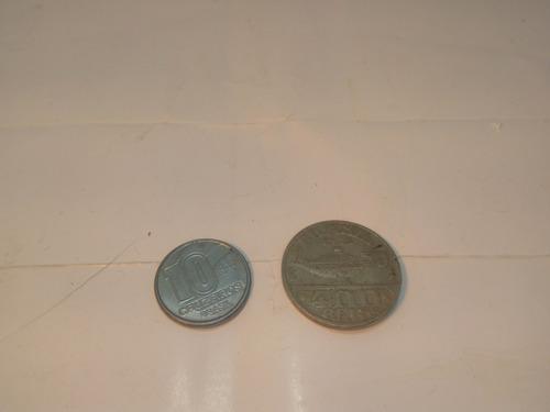 moeda 400 reis oswaldo cruz 1938 1932 e 10 cruzeiros de 1990