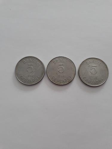 moeda 5 cruzados 1986 1987 1988