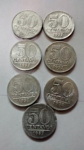 moeda 50 centavos 1957 - moedas antigas 50 centavos 1957
