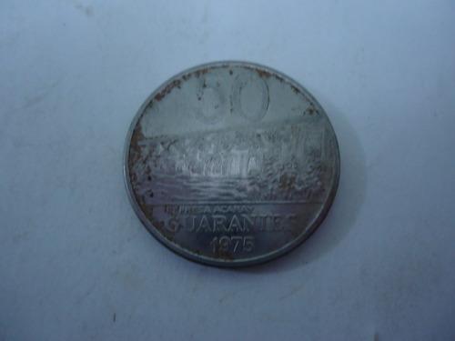 moeda 50 guaranies 1975