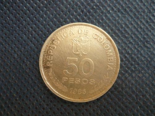 moeda 50 pesos colombia 1986 - cod.21092