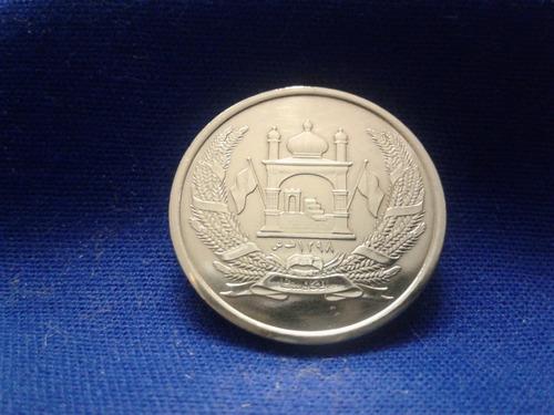 moeda afeghanistão - 5 afghanis 2005 flor de cunho