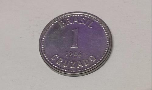 moeda antiga 1 cruzado de 1986